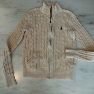 Ralph Lauren Sport 100% cotton zip cardigan
